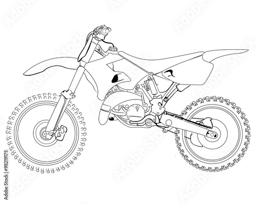 u0026quot dirt bike sketch u0026quot  stock image and royalty