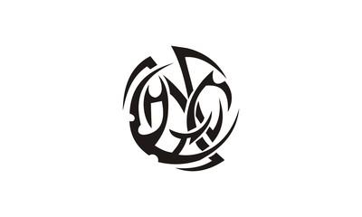 swirl ornate tatto design
