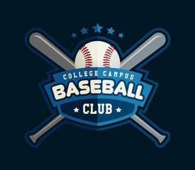 Baseball logo template for sports team