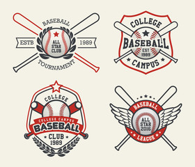 Set of Sport Baseball Badge Logo Templates, Baseball Label Templates, T-Shirt Graphics