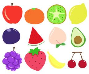 Fun Hand Drawn Fruits