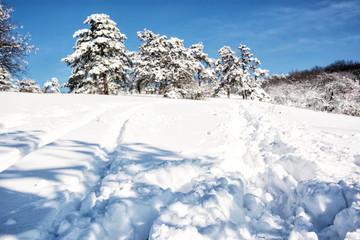 Snowy mountains, winter scene in Slovak republic