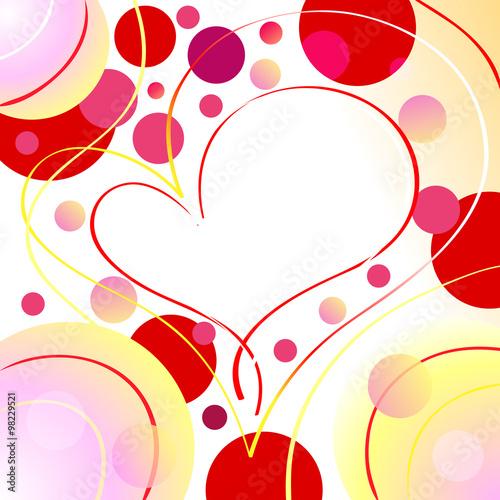 Beautiful romantic heart backgroundfotolia beautiful romantic heart background voltagebd Images