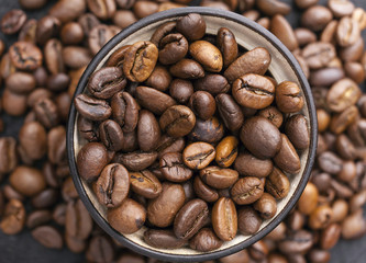 brown coffee, background texture, close-up