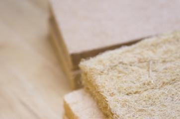 compressed thermal insulating hemp fiber panels - energy efficiency
