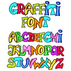 Vector graffiti font