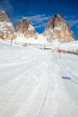 Ski slope in Dolomites