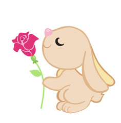 Small lovely rabbit. Cute Bunny.Vector illustration.
