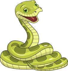 Green funny snake