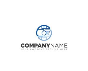 Photo camera, vector logo