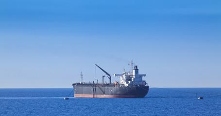 Gas Tanker In Sea
