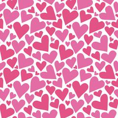 Seamless pattern random heart. ランダムハートのパターン