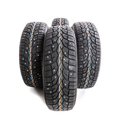 Winter tires isolated