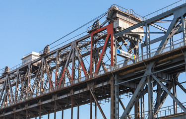 Danube Bridge fragment. Steel truss bridge