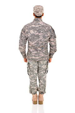 back view of military man