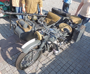 Motorcycle and sidecar combination BMW R75 of WWII