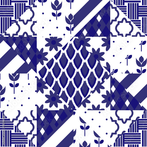 Cool 16X32 Ceiling Tiles Thin 18 Inch Floor Tile Shaped 18 X 18 Ceramic Tile 20 X 20 Floor Tile Patterns Young 24 X 24 Ceiling Tiles Black3 X 12 Subway Tile Patchwork Quilt Vector Pattern Tiles. Blue Indigo And White ..