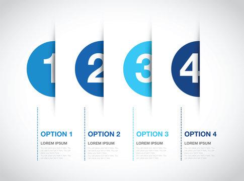 blue numbered option background