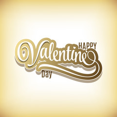 Happy Valentines Day Hand Lettering - Typographical Background.
