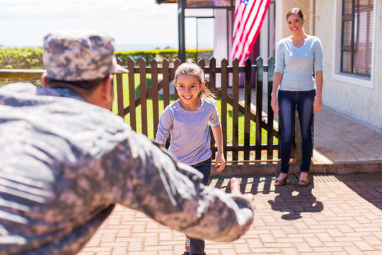 young military family reunion