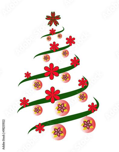 A stylized christmas tree vector albero di natale for Albero natale stilizzato