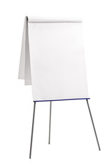 Presentation board with a blank paper