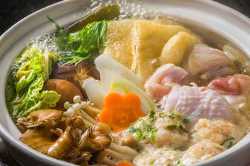 鶏の塩ちゃんこ鍋  Chicken sumo wrestler's stew