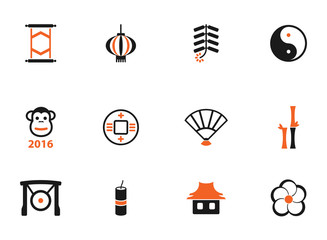 Chinese New Year simply icons