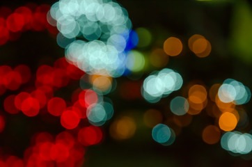 abstract background colorful bokeh circles.