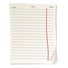 Stripped notebook paper cartoon illustration
