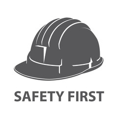 Safety hard hat icon symbol