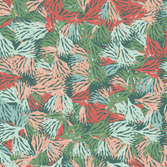 Vintage floral hand drawn seamless pattern. Vector