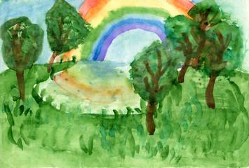 """Children's drawings """"Landscape"""""""
