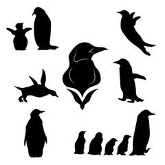 Penguin set vector
