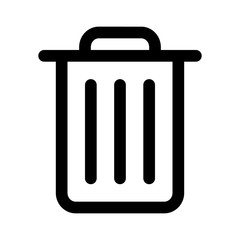 Trash can (rubbish bin) line art icon for apps and websites