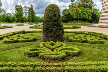 Famous Chateau de Chantilly (1560), park. Oise, Picardie, France