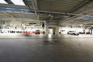 Big garage with cars