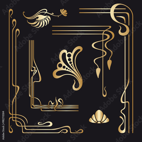 quot vector set of nouveau decorative elements quot stock image and royalty free vector files on
