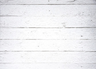 background of aged white wooden planks