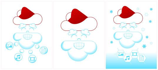 Santa Cloud vector
