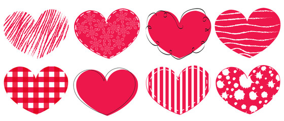 Happy Valentine's day card hearts greeting card