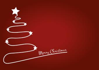 Christmas tree red card