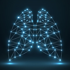 Abstract human lung, network connections. Vector illustration. Eps 10