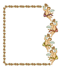 Vector frame with Cupid