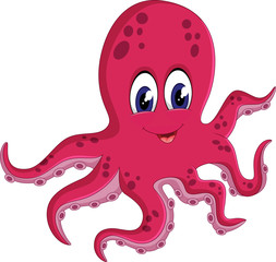 illustration of cute Octopus cartoon