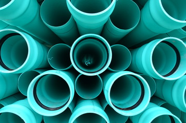 blue pvc pipes
