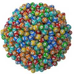 lottery balls stack. big stack version.