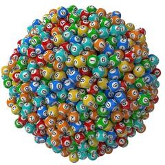 lottery balls stack. big stack version.