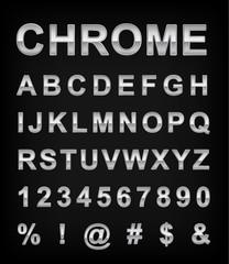 Chrome alphabet