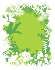 Leaves background of tropical plants